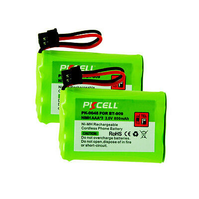 2x Rechargeable Cordless Phone Battery for Uniden BT909 BT-909 Ni-MH 3.6V 800mAh