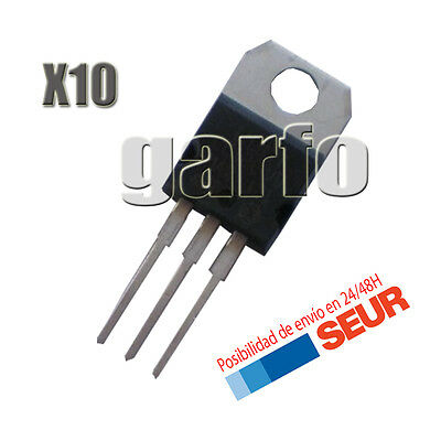 10X Regulador de Tension LM317T 1,2V a 37V 1.5A TO-220