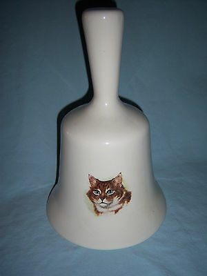 Large Ceramic Bell with 3 Different Cat Head Decals