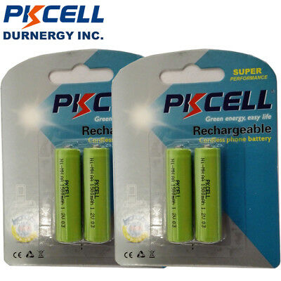 8x 1500mAh AA Size NiMH Rechargeable Batteries Battery for Cordless Phones 1.2V