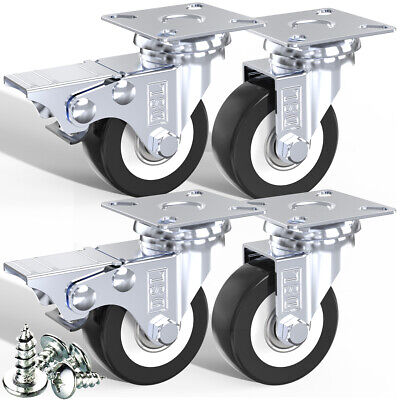 DSL Heavy Duty 50mm 240KG PU Swivel Castor Wheel Furniture Trolley Caster Rubber
