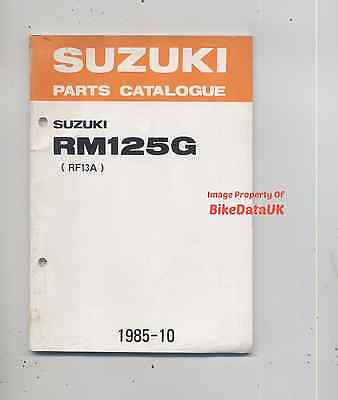 Suzuki RM125-G (1986) Parts List Catalogue Book RM 125 RF13 Full-Floater VMX