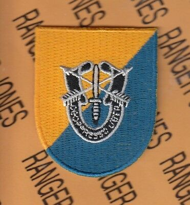 8th Special Forces Gp Airborne beret flash DUI patch B