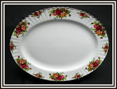 "OLD COUNTRY ROSES  38cm (15"") OVAL SERVING PLATTER, 1ST QUALITY, ROYAL ALBERT"