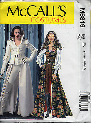 McCall's 6819 Steampunk Costume Pattern 12-20 UNCUT Once Upon a Time -Snow White