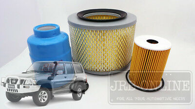 NISSAN PATROL GU 3.0 TURBO DIESEL zd30 Filter Service KIT 5/2000 - 2008