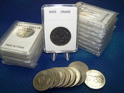 24 Coin holders Slab Style for * CANADIAN Nickel Dollar-- size 32 mm*