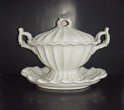 Red Cliff Ironstone Tureen Lid & Underplate Victorian Pattern Excellent