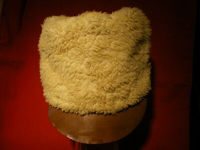 WWII Period Swedish Army Fur Winter Hat. Dated 1940th.