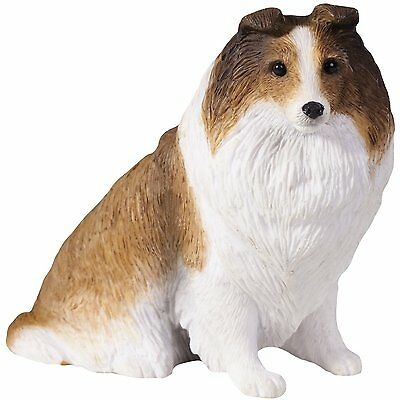 SANDICAST Dog Figurine Puppy Sculpture Small Size S15502 SABLE SHETLAND SHEEPDOG