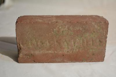 1904 Antique red brick Coffeyville, KS. vitrified brick & tile co. Paperweight
