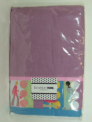 MOD Twin Bed Skirt 60's Purple Disco Hippie Afro Bell Bottoms NEW Bombay Kids