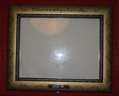 DISNEY CINDERELLA PICTURE FRAME w/ GLASS A Dream Is A Wish Your Hear Makes