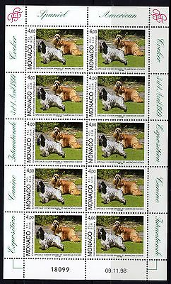 Monaco 1999 Dog Show Sheet 10 MNH