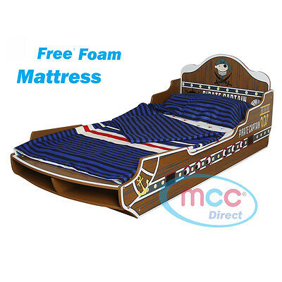 MCC Sea Pirate Junior Toddler Kids Bed with Luxury Mattress Made in UK