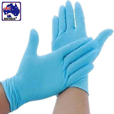 5X 10X 50X Blue Reliable Oil Proof Latex Rubber Working Protective Gloves SGLOV