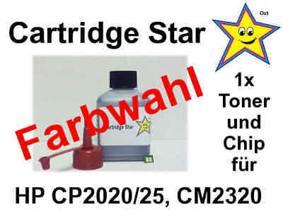 Refill Toner + Reset Chip f. HP Color LaserJet CP2020 CP2025 CM2320 (Farbwahl)