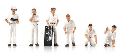 Truescale TSM12AC11 Pit Crew Figurines Classic Style White (Set Of 6) 1/43 Scale