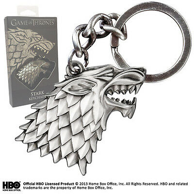 Game of Thrones Stark Sigil Keychain Keyring XT0084