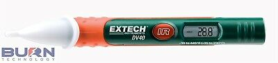 Extech Non-Contact Voltage Detector with Built-In InfraRed Thermometer DV40