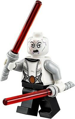 New LEGO STAR WARS Asajj Ventress minifigure with red lightsabers (Clone Wars)..