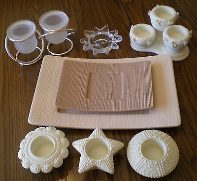 Large Lot Of PartyLite Candle Holders Some New In Box Votive  Tealight   Pillar