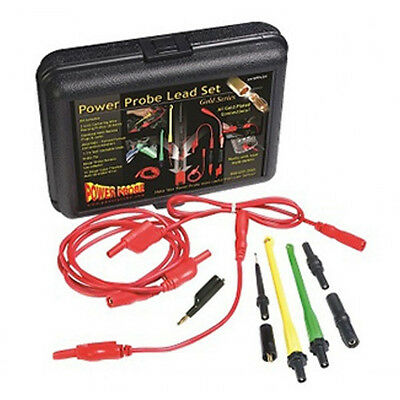 Power Probe Gold Series Test Lead Set PPLS01 - 10 Gauge Current and 4mm Plated