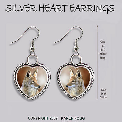 COYOTE - HEART EARRINGS Ornate Tibetan Silver