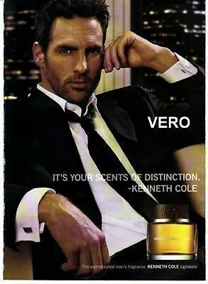 2006 magazine ad KENNETH COLE SIGNATURE FRAGRANCE PERFUME COLOGNE open and sniff
