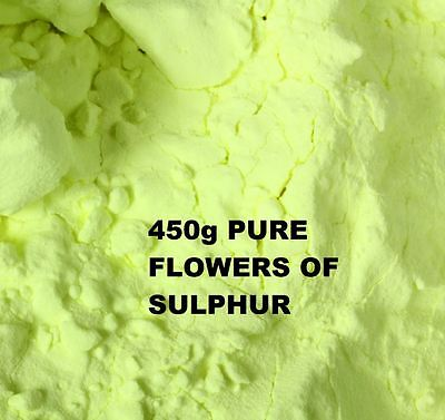 FLOWERS OF SULPHUR POWDER 450g - 99.99 % HIGH PURITY SUBLIMED - HEALTH REMEDY
