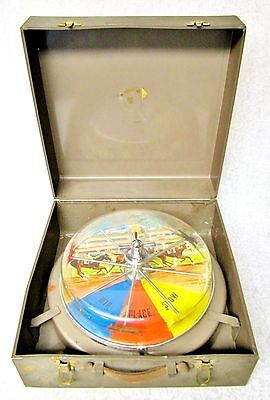 """Rare! Vintage """"bookie"""" Game Roulette Horse Racing Win Place Show In Metal Case"""