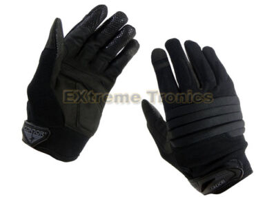 CONDOR Black STRYKER Police SWAT Military Tactical Padded Knuckle Gloves Large
