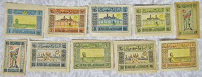 Lot Of 10 Azerbaijan 1919 Postage Mail Stamps In Very Nice Condition - Unposted