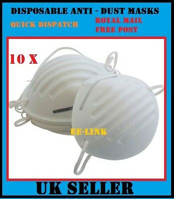 10 x Disposable Comfort Safety Dust Particle Infection Masks For Paints Builders