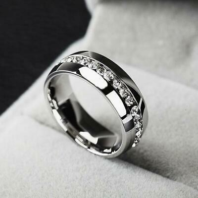 Top fashion jewellery rhinestone stainless steel ring for women free shipping