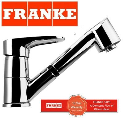 Franke Kitchen Sink Modern Mixer Tap Swivel Spout Single Lever Pull Out Spray