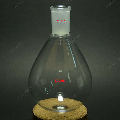 500ML,Glass Recovery Flask,Pyriform,Kjeldahl,24/40,Rotary Evaporator Bottle