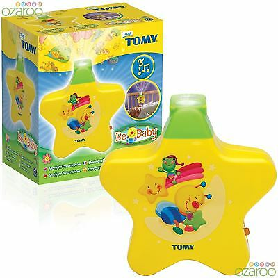 TOMY First Years Starlight Dreamshow - Baby Cot Nightlight with Lullabies Yellow