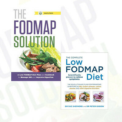 Low Fodmap Diet and Fodmap Solution Collection 2 Books  Set Paperback