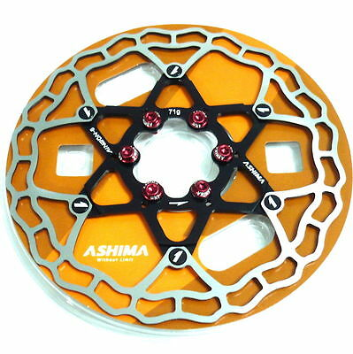 gobike88 The Lightest ASHIMA AiNEON Disc Rotor W67 71g Red 160mm