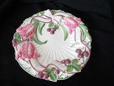 Fitz & Floyd Classics Canape' Plate Wall Hanging ~Blackberry Rabbit 2002~Tulips