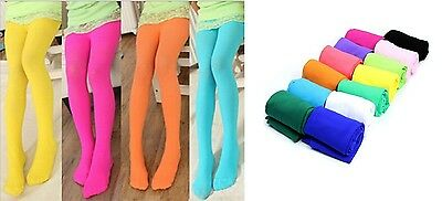 Kids Girls Stretchable Opaque Tights Pantyhose in Lovely Colors + BONUS....