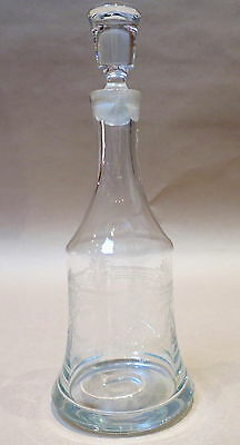 Beautiful Vintage Etched Crystal Decanter
