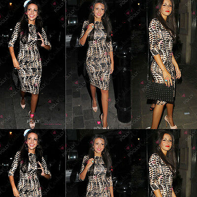 Celeb Fashion Womens Animal Leopard Print Long Midi Pencil Ladies Bodycon Dress