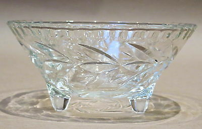 Beautiful Vintage Pressed Glass Footed Bowl