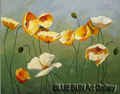 Modern oil painting on Canvas Wall Art Deco Poppy Flower Hand Painted 20×24 BD22