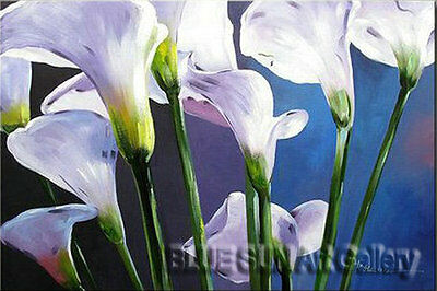 Modern oil painting on Canvas Wall Art Deco Calla Flower Hand Painted 20×30 BD17