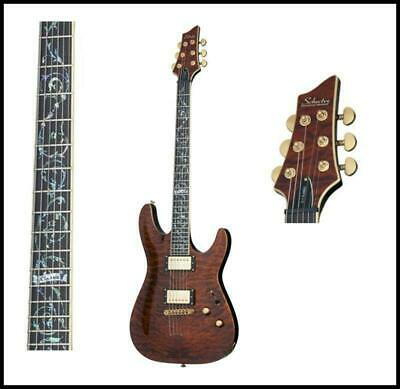Schecter Guitar Research SCH-240 C-1 Classic Antique Amber, Vine of Life Inlay