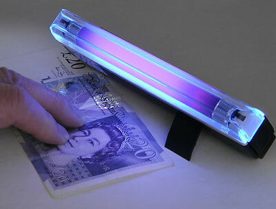 NEW 2-in-1 Handheld UV Led Light Torch Lamp Counterfeit Currency Money Detector