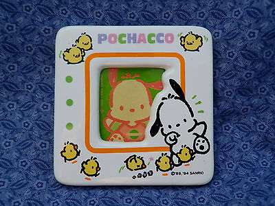 Vintage POCHACCO Pup picture frame Ceramic 1994 Chick Fest! Sanrio Collectible